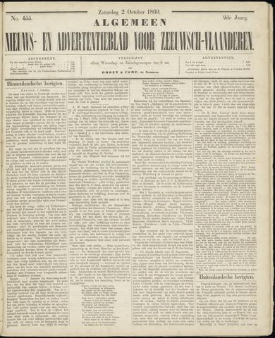Ter Neuzensche Courant. Algemeen Nieuws- en Advertentieblad voor Zeeuwsch-Vlaanderen / Neuzensche Courant ... (idem) / (Algemeen) nieuws en advertentieblad voor Zeeuwsch-Vlaanderen 1869-10-02