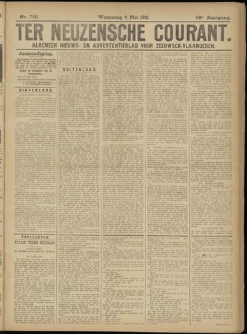 Ter Neuzensche Courant. Algemeen Nieuws- en Advertentieblad voor Zeeuwsch-Vlaanderen / Neuzensche Courant ... (idem) / (Algemeen) nieuws en advertentieblad voor Zeeuwsch-Vlaanderen 1921-05-04
