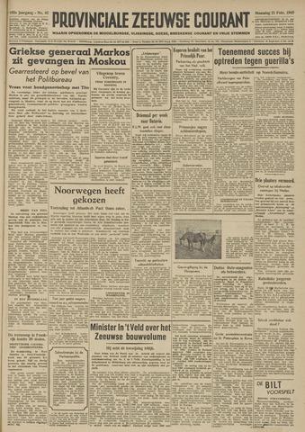 Provinciale Zeeuwse Courant 1949-02-21