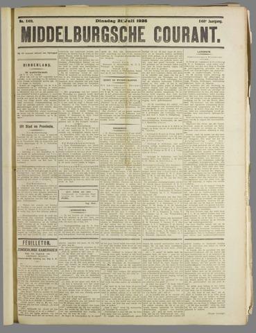 Middelburgsche Courant 1925-07-21