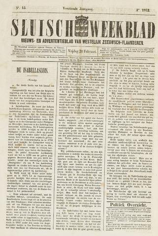 Sluisch Weekblad. Nieuws- en advertentieblad voor Westelijk Zeeuwsch-Vlaanderen 1873-02-21