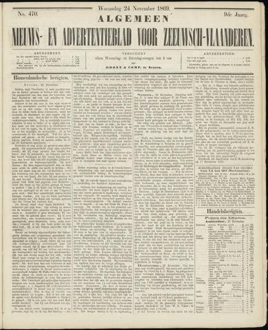 Ter Neuzensche Courant. Algemeen Nieuws- en Advertentieblad voor Zeeuwsch-Vlaanderen / Neuzensche Courant ... (idem) / (Algemeen) nieuws en advertentieblad voor Zeeuwsch-Vlaanderen 1869-11-24