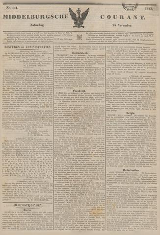 Middelburgsche Courant 1843-11-25