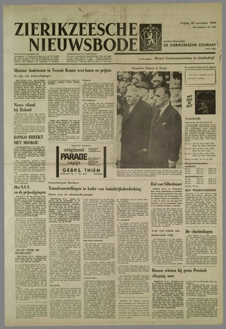 Zierikzeesche Nieuwsbode 1963-11-22