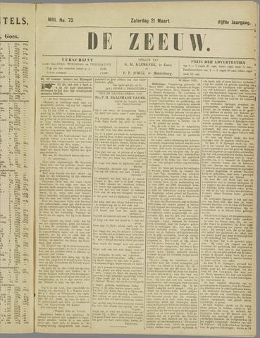 De Zeeuw. Christelijk-historisch nieuwsblad voor Zeeland 1891-03-21