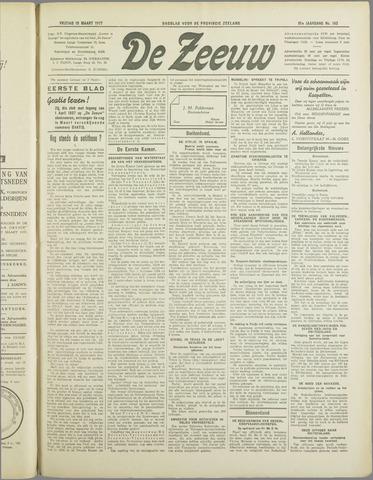 De Zeeuw. Christelijk-historisch nieuwsblad voor Zeeland 1937-03-19