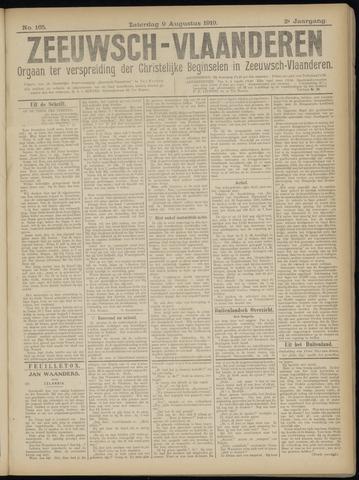 Luctor et Emergo. Antirevolutionair nieuws- en advertentieblad voor Zeeland / Zeeuwsch-Vlaanderen. Orgaan ter verspreiding van de christelijke beginselen in Zeeuwsch-Vlaanderen 1919-08-09