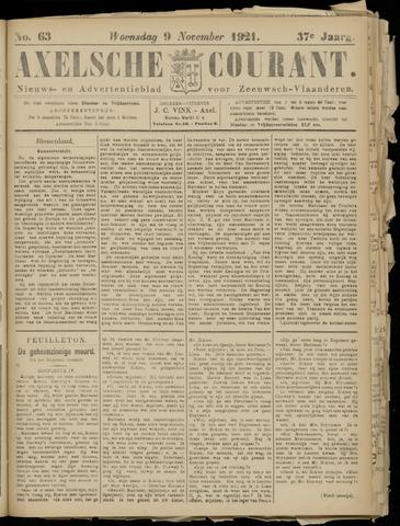Axelsche Courant 1921-11-09