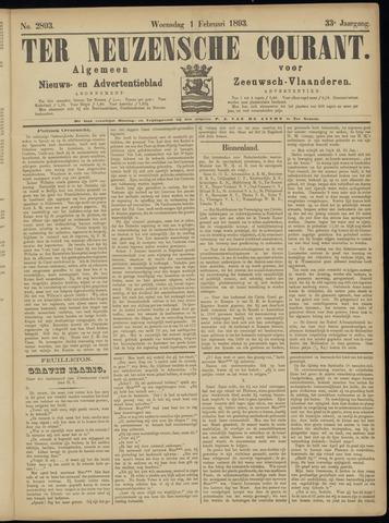 Ter Neuzensche Courant. Algemeen Nieuws- en Advertentieblad voor Zeeuwsch-Vlaanderen / Neuzensche Courant ... (idem) / (Algemeen) nieuws en advertentieblad voor Zeeuwsch-Vlaanderen 1893-02-01