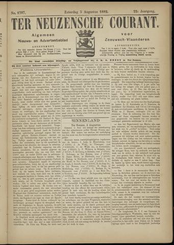 Ter Neuzensche Courant. Algemeen Nieuws- en Advertentieblad voor Zeeuwsch-Vlaanderen / Neuzensche Courant ... (idem) / (Algemeen) nieuws en advertentieblad voor Zeeuwsch-Vlaanderen 1882-08-05