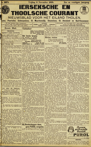 Ierseksche en Thoolsche Courant 1928-11-09