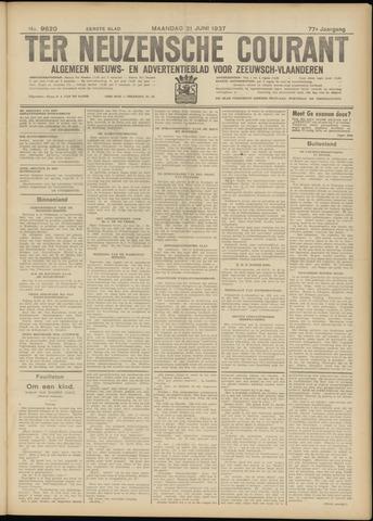 Ter Neuzensche Courant. Algemeen Nieuws- en Advertentieblad voor Zeeuwsch-Vlaanderen / Neuzensche Courant ... (idem) / (Algemeen) nieuws en advertentieblad voor Zeeuwsch-Vlaanderen 1937-06-21