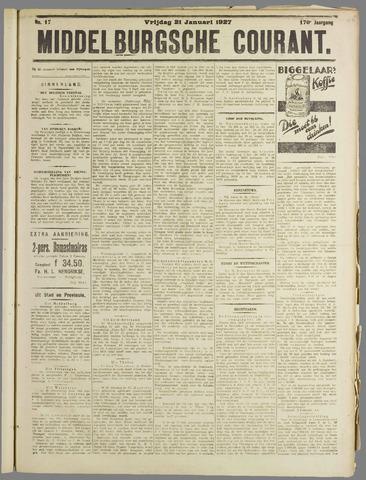 Middelburgsche Courant 1927-01-21