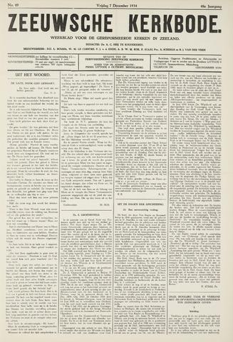 Zeeuwsche kerkbode, weekblad gewijd aan de belangen der gereformeerde kerken/ Zeeuwsch kerkblad 1934-12-07