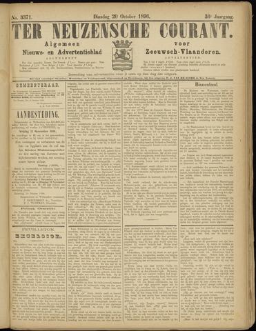 Ter Neuzensche Courant. Algemeen Nieuws- en Advertentieblad voor Zeeuwsch-Vlaanderen / Neuzensche Courant ... (idem) / (Algemeen) nieuws en advertentieblad voor Zeeuwsch-Vlaanderen 1896-10-20