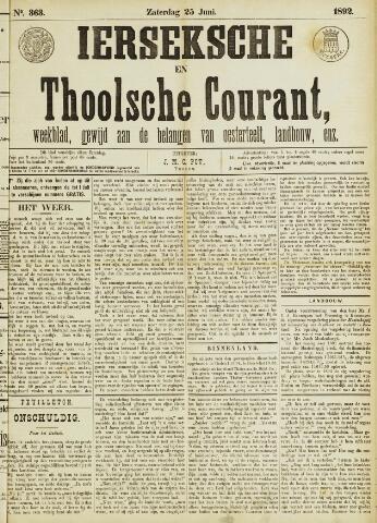 Ierseksche en Thoolsche Courant 1892-06-25