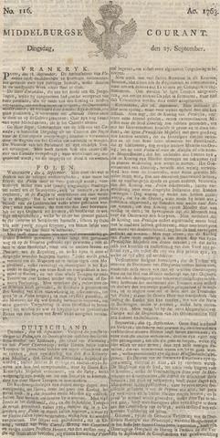 Middelburgsche Courant 1763-09-27