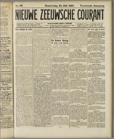 Nieuwe Zeeuwsche Courant 1918-07-25