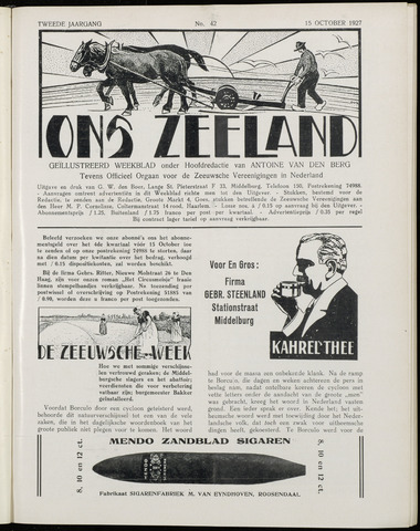 Ons Zeeland / Zeeuwsche editie 1927-10-15