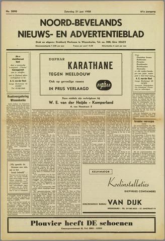 Noord-Bevelands Nieuws- en advertentieblad 1958-06-21