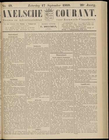 Axelsche Courant 1910-09-17