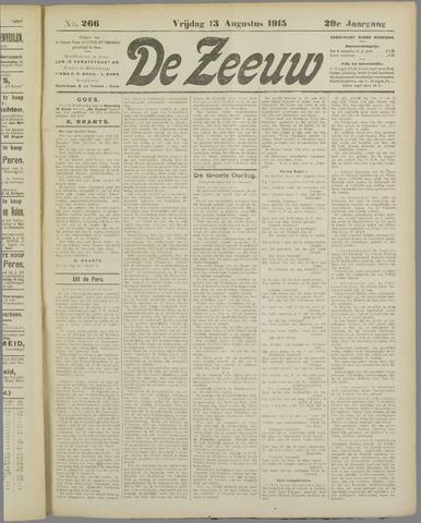 De Zeeuw. Christelijk-historisch nieuwsblad voor Zeeland 1915-08-13
