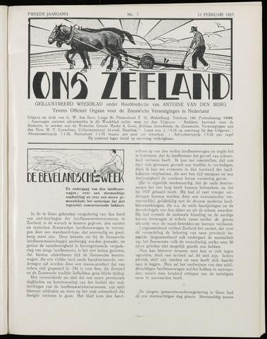 Ons Zeeland / Zeeuwsche editie 1927-02-12