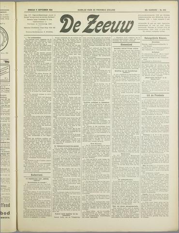 De Zeeuw. Christelijk-historisch nieuwsblad voor Zeeland 1934-09-11