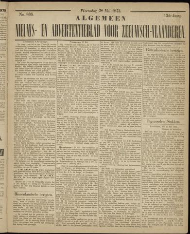 Ter Neuzensche Courant. Algemeen Nieuws- en Advertentieblad voor Zeeuwsch-Vlaanderen / Neuzensche Courant ... (idem) / (Algemeen) nieuws en advertentieblad voor Zeeuwsch-Vlaanderen 1873-05-28