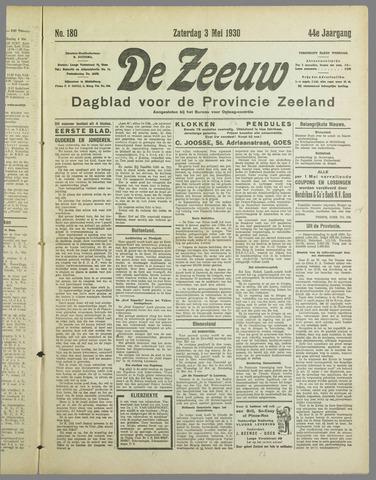 De Zeeuw. Christelijk-historisch nieuwsblad voor Zeeland 1930-05-03