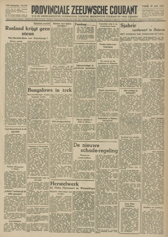 Provinciale Zeeuwse Courant 1947-06-20