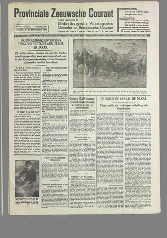 Provinciale Zeeuwse Courant 1940-09-27