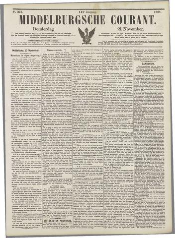 Middelburgsche Courant 1901-11-21