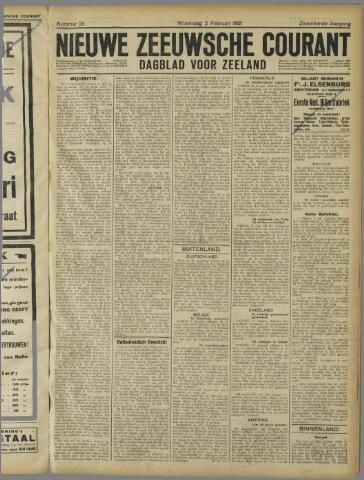 Nieuwe Zeeuwsche Courant 1921-02-02