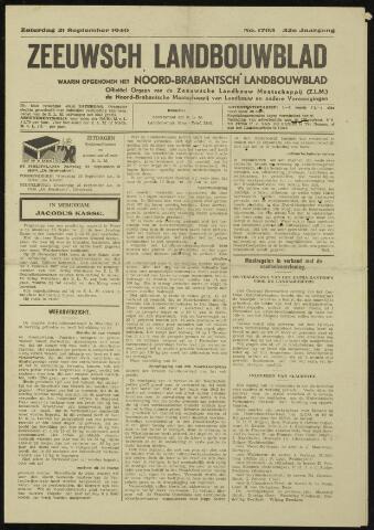 Zeeuwsch landbouwblad ... ZLM land- en tuinbouwblad 1940-09-21
