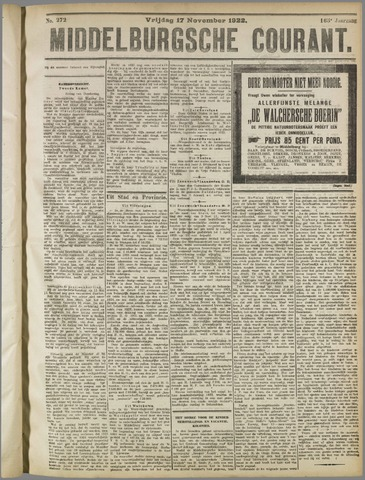 Middelburgsche Courant 1922-11-17