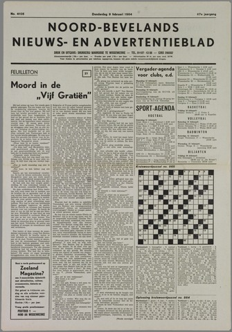 Noord-Bevelands Nieuws- en advertentieblad 1984-02-09