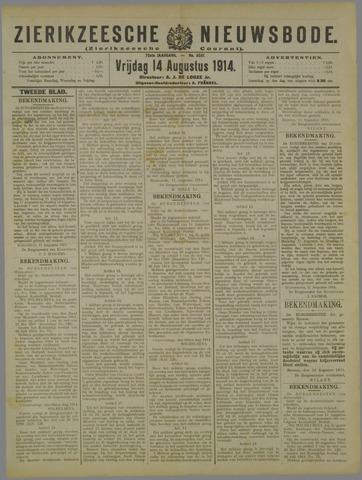 Zierikzeesche Nieuwsbode 1914-08-14