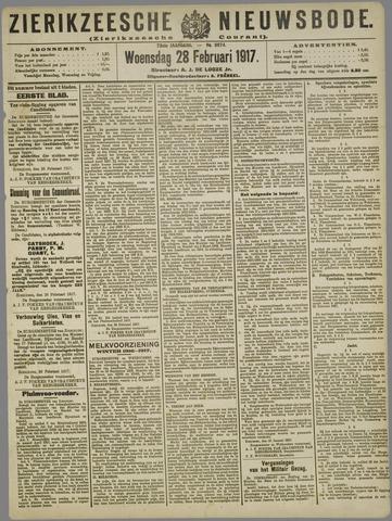 Zierikzeesche Nieuwsbode 1917-02-28