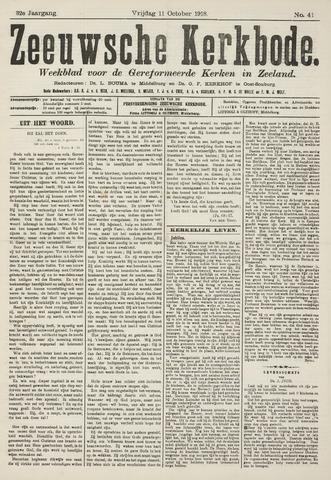 Zeeuwsche kerkbode, weekblad gewijd aan de belangen der gereformeerde kerken/ Zeeuwsch kerkblad 1918-10-11
