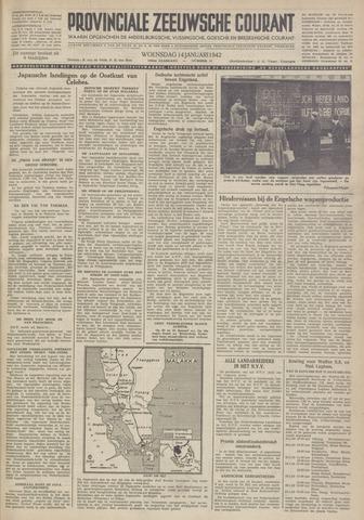 Provinciale Zeeuwse Courant 1942-01-14