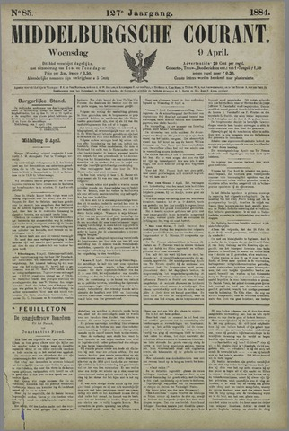 Middelburgsche Courant 1884-04-09