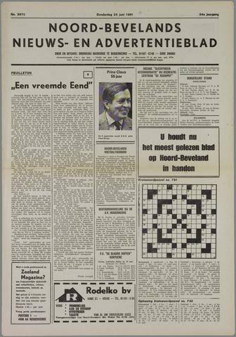 Noord-Bevelands Nieuws- en advertentieblad 1981-06-25