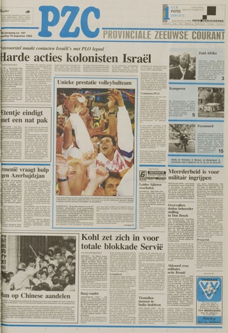 Provinciale Zeeuwse Courant 1992-08-10