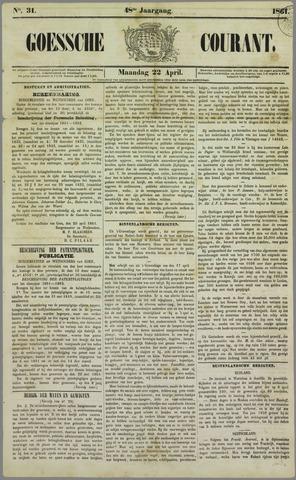 Goessche Courant 1861-04-22