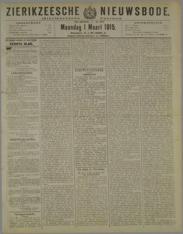 Zierikzeesche Nieuwsbode 1915-03-01