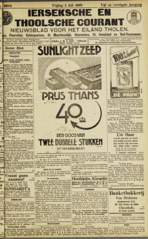 Ierseksche en Thoolsche Courant 1927-07-01