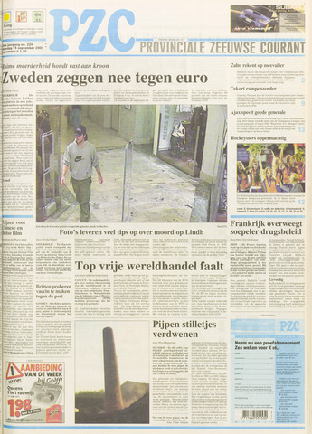 Provinciale Zeeuwse Courant 2003-09-15