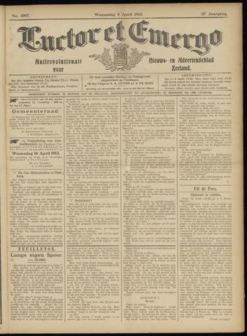 Luctor et Emergo. Antirevolutionair nieuws- en advertentieblad voor Zeeland / Zeeuwsch-Vlaanderen. Orgaan ter verspreiding van de christelijke beginselen in Zeeuwsch-Vlaanderen 1913-04-09