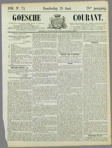 Goessche Courant 1891-06-25